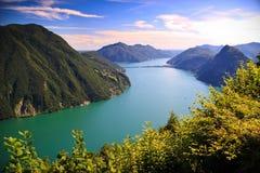 Lago Lugano Fotografía de archivo libre de regalías