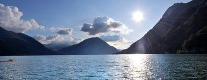 Lago lugano Fotografía de archivo