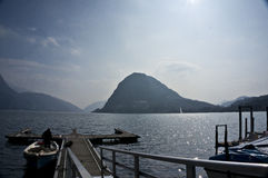 Lago Lugano fotografia de stock royalty free