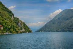 Lago Lugano del barco Foto de archivo libre de regalías