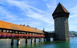 Lago lugano en Suiza Imágenes de archivo libres de regalías