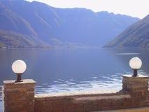 Lago Lugano pacifica Fotografia Stock