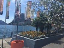 Lago Lugano, Suiza Foto de archivo libre de regalías