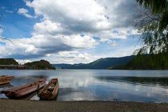 Lago Lugu fotografie stock