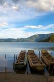 Lago Lugu illustrazione di stock