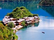 Lago Lugu Fotos de archivo