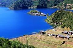 Lago Lugu Foto de Stock Royalty Free