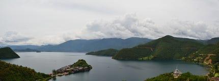 Lago Lugu Fotografia de Stock Royalty Free