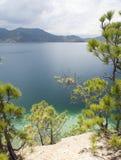 Lago Lugu en Yunnan, China Fotos de archivo