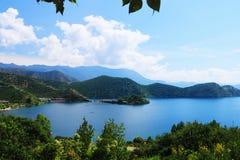 Lago Lugu, Lijiang, Yunnan, China fotografia de stock royalty free