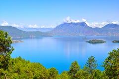 Lago Lugu, o reino das mulheres Fotografia de Stock