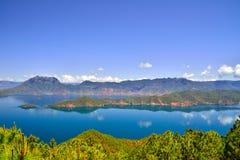 Lago Lugu, o reino das mulheres Imagem de Stock