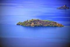Lago Lugu, o reino das mulheres Imagem de Stock Royalty Free
