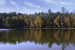 Lago luminoso James di giorno appena prima l'autunno Fotografie Stock Libere da Diritti