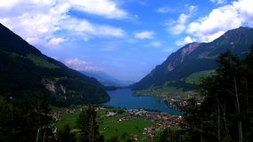 Lago Lungern lookout imagen de archivo libre de regalías