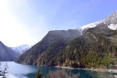 Lago lungo, Jiuzhaigou Immagini Stock Libere da Diritti