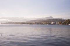 Lago luzern, Svizzera Immagine Stock