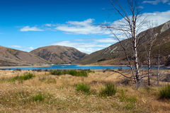 Lago Lyndon, sul passaggio di Arthurs, alpi del sud, isola del sud della Nuova Zelanda Immagini Stock