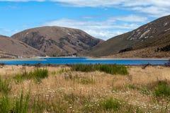 Lago Lyndon, sul passaggio di Arthurs, alpi del sud, isola del sud della Nuova Zelanda Fotografia Stock