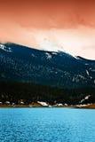 Lago máximo mountain rocosa de los lucios fotografía de archivo