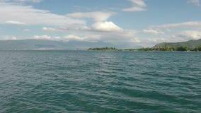 Lago Macedonia Ohrid almacen de metraje de vídeo