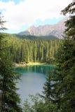 Lago, madeira de pinhos & montanha Fotografia de Stock Royalty Free