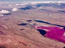 Lago Magadi nel Kenia Immagini Stock