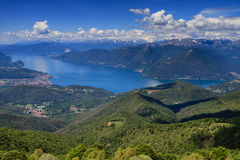Lago Maggiore as seen from Monte Lema Stock Image