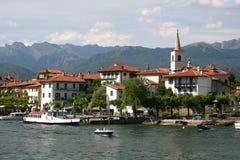 Lago Maggiore e Isola Superiore (dei Pescatori) Fotografia Stock