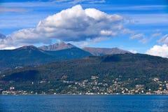 Lago Maggiore ed alpi svizzere Immagine Stock Libera da Diritti