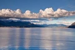 Lago Maggiore ed alpi svizzere Fotografia Stock