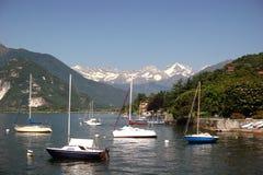 Lago Maggiore ed alpi svizzere snowcapped Immagine Stock Libera da Diritti