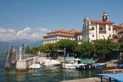 Lago Maggiore - ilhas de Borromean Foto de Stock Royalty Free