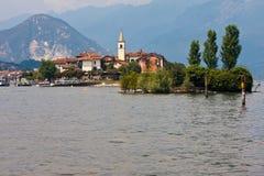 Lago Maggiore - islas de Borromean Imagenes de archivo