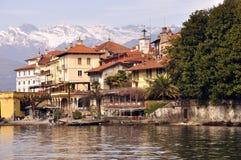 Lago Maggiore, Isola Bella nell'inverno Fotografia Stock