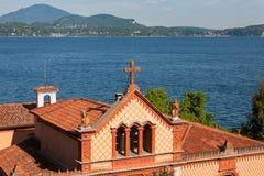 Lago Maggiore Itália Madre Stresa da ilha Imagens de Stock