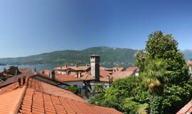 Lago Maggiore, Italië. stock foto