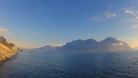 Lago Maggiore Italia Paisaje hermoso almacen de video