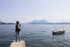 Lago Maggiore, Italy fotografia de stock