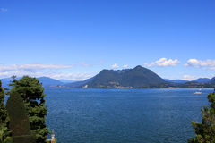 Lago Maggiore, Italy. View of Lago Maggiore (Great Lake) from Isola Bella island, Italy stock photography