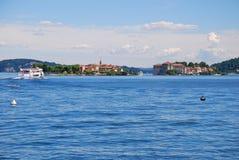 Lago Maggiore, Italy. Consoles de Borromeo. Imagem de Stock