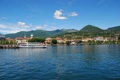Lago Maggiore, Italy. Verbania intra Foto de Stock Royalty Free