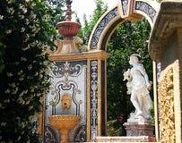 Lago maggiore. Statue in a garden of stresa Stock Image