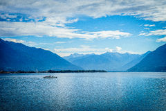 Lago Maggiore, Svizzera Fotografia Stock Libera da Diritti