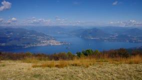 Lago Maggiore und Alpen in Italien stock video footage