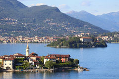 Lago Maggiore. View of Lago Maggiore, Italy royalty free stock images
