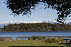 Lago Mahinapua fotografie stock