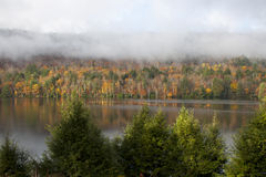 Lago maine in autunno Fotografia Stock