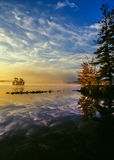 Lago maine in autunno Fotografie Stock