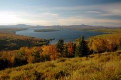 Lago maine en la caída Fotos de archivo